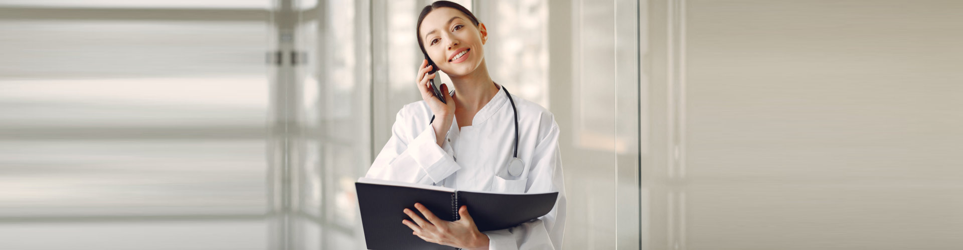 a female on a phone